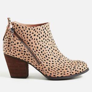 Torrid Women's Cheetah Faux Suede Ankle Bootie